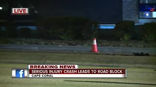 Crash leads to road block in Cape Coral