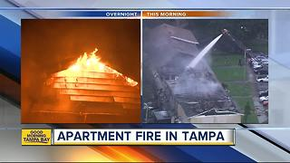 Fire destroys multiple units at Tampa apartment complex - Video