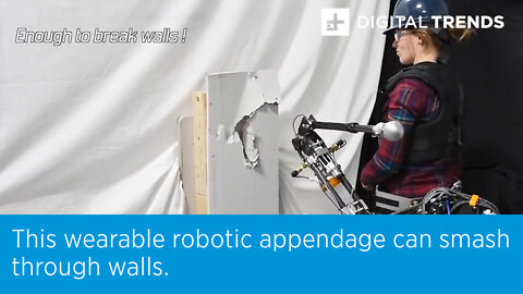 This wearable robotic appendage can smash through walls.
