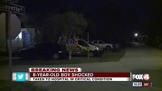 Boy in critical condition after being shocked - Video