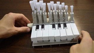 Musical Organ Created Only From Paper