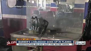Burned barbershop hurts community - Video