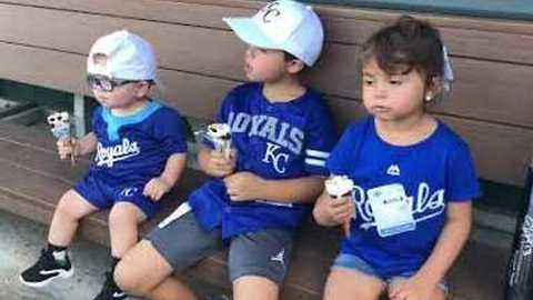 2-Year-Old With Spina Bifida Plays Baseball With KC Royals