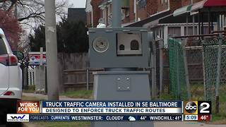 Truck traffic cameras installed in southeast Baltimore