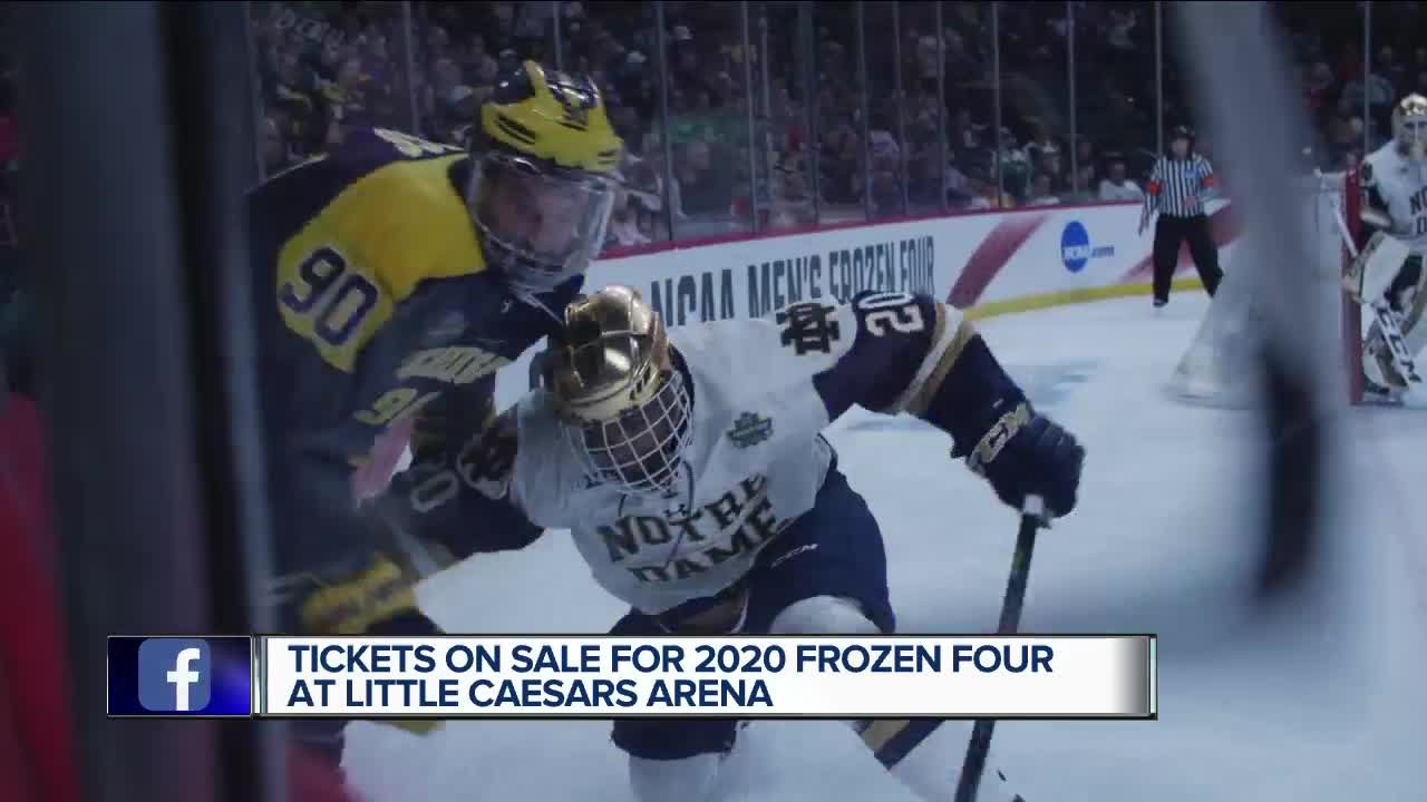 Tickets on sale for 2020 Frozen Four in Detroit