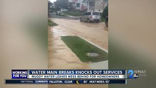 Water main break turns road into raging river - Video