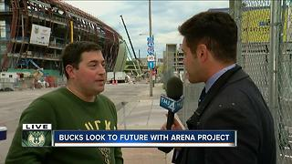 Bucks President Peter Feigin talks arena, Thursday night's draft with Pete Zervakis - Video