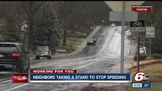 Indy residents taking a stand to stop speeding in their neighborhoods - Video