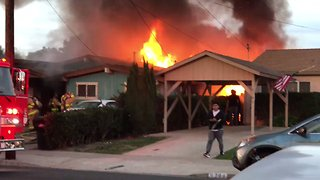 Blaze Erupts at Clairemont Home Following Plane Crash - Video