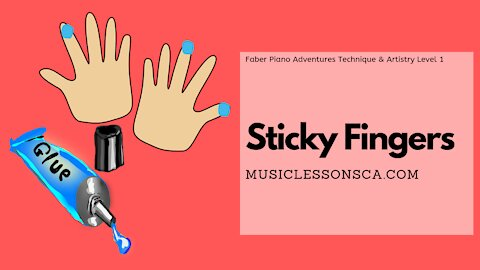 Piano Adventures Technique & Artistry Level 1 - Sticky Fingers