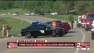 Three killed in head-on wreck near Bristow