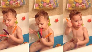 Hilarious recitation of rainbow colours shows two-year-old toddler's unexpected dislike to the colour orange - Video