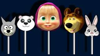 Masha and the Bear Finger Family Song Lollipop Nursery Rhyme - Video