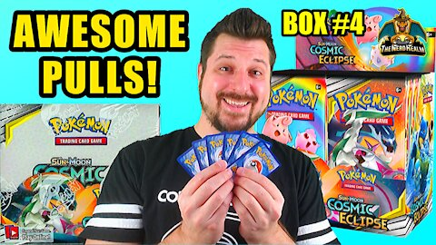 Cosmic Eclipse Booster Case (Box 4) | Charizard Hunting | Pokemon Opening