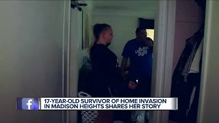 Metro Detroit teen speaks out about frightening home invasion - Video