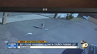 Toddler found alone wandering parking lot in Rolando - Video