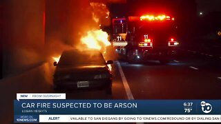 Car fire suspected to be arson