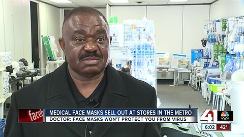 Medical face masks sold out across KC area