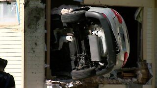 Driver loses control, drives car into house in Wauwatosa