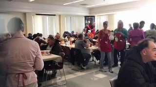 Hundreds come out for Thanksgiving dinner at Salvation Army - Video