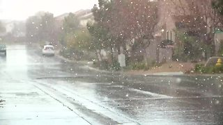 VIDEOS: Snow seen across Las Vegas valley - Video