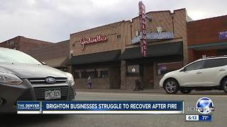 Brighton businesses struggle to recover after fire - Video