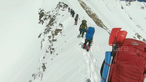 Himalayan climbers' last moments revealed in video taken before avalanche