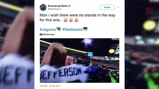 Jaguar Fans Throw Trash At Ejected Seahawks Player - Video