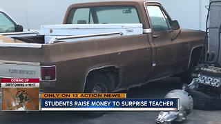 Students surprise teacher to fix late father's 1984 truck - Video