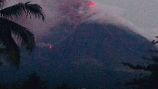Smoke Rises From Mayon Volcano Amid Latest Eruptions - Video