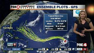 Tropical Storm Irma update -- 7am Thursday - Video
