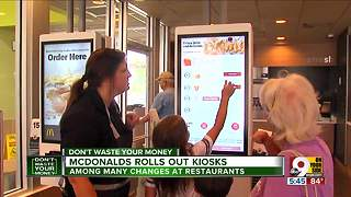 McDonald's rolls out new kiosks