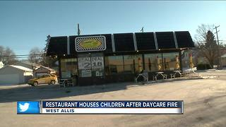 Restaurant Houses Children After Daycare Fire - Video