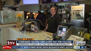 Companies helping employees pay for college - Video