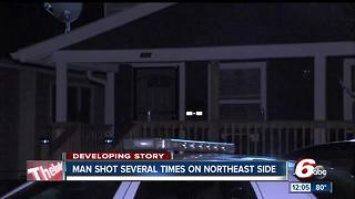 63-year-old man shot on Indy's east side - Video