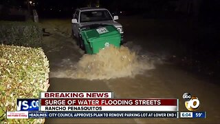 Rancho Penasquitos streets flooded