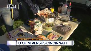Tailgating before Michigan Football home opener - Video
