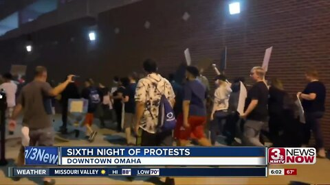 No arrests reported on sixth day of protests in Omaha