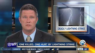 1 man killed, another injured by lightning strike in Broward County - Video