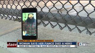 Woman says fiance died trying to save people from floods - Video