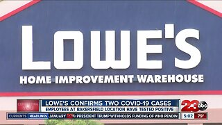 Lowe's employee tests positive