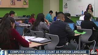 Computer coding could soon count as foreign language - Video