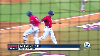 FAU Baseball Knocks Off Miami - Video