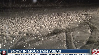 Snow in Pine Mountain Club - Video