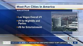 Las Vegas named America's most fun city - Video