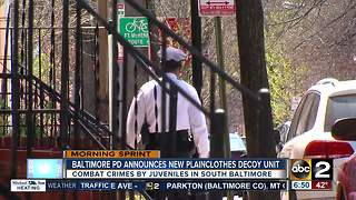 Baltimore Police announce new decoy unit to arrest juveniles on the spot - Video