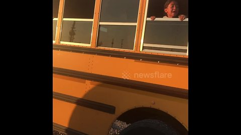 Mass panic on schoolbus after driver tells disruptive children they're can't go home