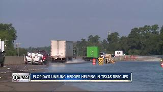 Florida's unsung heroes helping in Texas rescues - Video