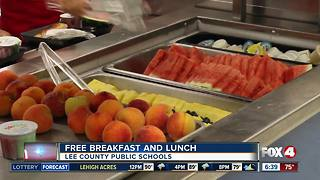 Free breakfast and lunch for Lee County students - Video