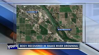 Body recovered from Snake River - Video